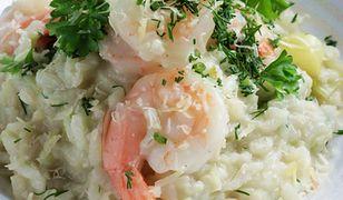 Cytrynowe risotto z krewetkami