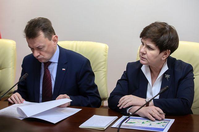 Minister Mariusz Błaszczak i premier Beata Szydło