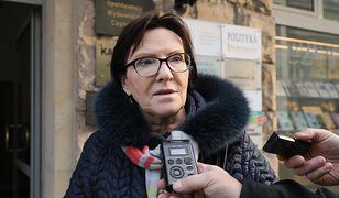Ewa Kopacz: trzymam kciuki za ministra zdrowia