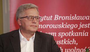 """Bronisław Komorowski krytykuje PiS. """"Rząd nie pracuje"""""""