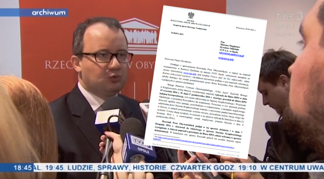 Biuro RPO zareagowało na nieprawdę w materiale TVP3 Opole