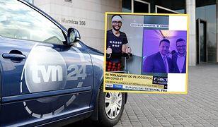 Część internautów oburzona kadrem z TVN24. Chodzi o ozdrowieńca w koszulce z ośmioma gwiazdami
