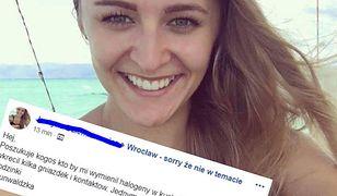 Justyna jest 26-letnią mieszkanką Wrocławia