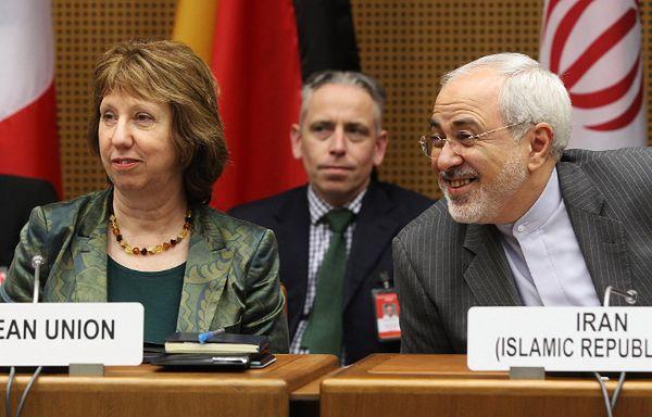 Catherine Ashton i Mohammad Dżawad Zarif