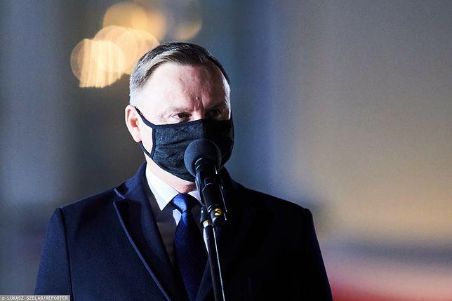 Koronawirus. Andrzej Duda podsumowuje 2020 rok