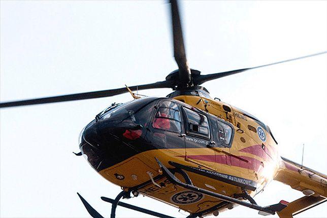 Dziecko zostało przetransportowana śmigłowcem do szpitala