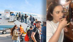 Tara nie pamięta, jak wsiadała do samolotu