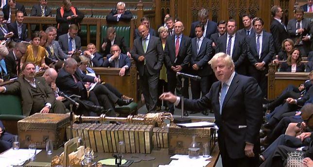 Boris Johnson w Izbie Gmin