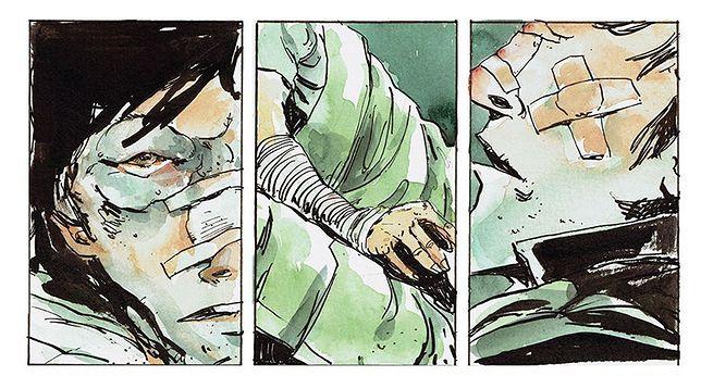 """Snow Blind"", scenariusz Ollie Masters, rysunki Tyler Jenkins"