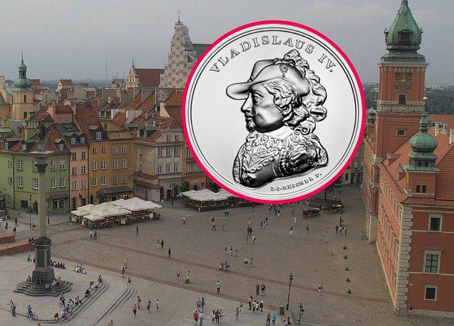 Władysław IV (na monecie) ufundował kolumnę Zygmunta w Warszawie.