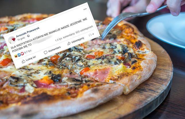 Avocado Przeworsk hitem internetu. Niekulturalny wpis pizzerii zrobił furorę