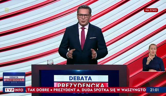 Michał Adamczyk prowadził drugą debatę prezydencką w TVP
