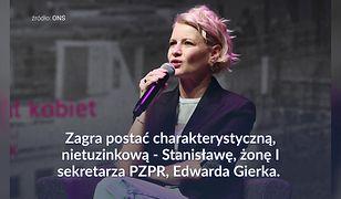 Małgorzata Kożuchowska zagra w filmie. Wcieli się w rolę żony Edwarda Gierka