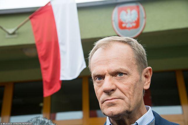Wyniki wyborów parlamentarnych 2019. Donald Tusk nie komentuje.