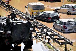 Niemcy. Klęska powodzi: całkowicie zalane drogi, czołgi w akcji