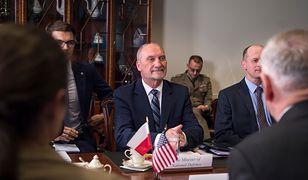 Rozmowy ws. stałej bazy USA w Polsce prowadzili współpracownicy Antoniego Macierewicza