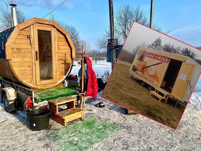 Mobilne sauny są atrakcją dla polskich morsów. Zainteresowanie jest ogromne. (źródło: archiwum prywatne Laury Floriańczyk i Pawła Lawskiego)