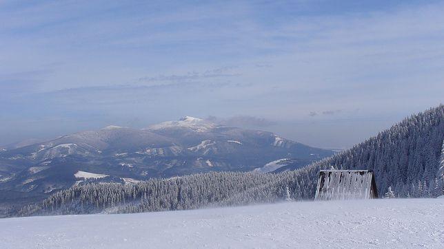 Babia Góra zimą - widok z Hali Miziowej