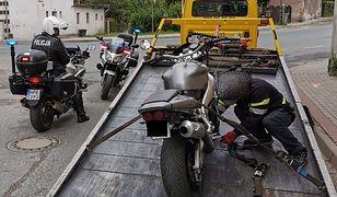 Jelenia Góra. Motocyklista bez prawa jazdy i ubezpieczenia, ale to nie wszystko
