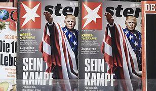 """Bulwersująca okładka """"Sterna"""" - Trump wykonuje gest """"Sieg Hail"""""""