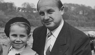 Hartmut Janssen jako chłopiec, z ojcem, Kurtem Mayem