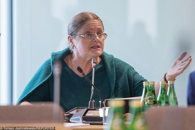 Krystyna Pawłowicz na komisji sprawiedliwości i praw człowieka