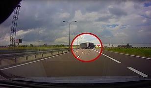 Ciężarówką jechał pod prąd na trasie ekspresowej S17