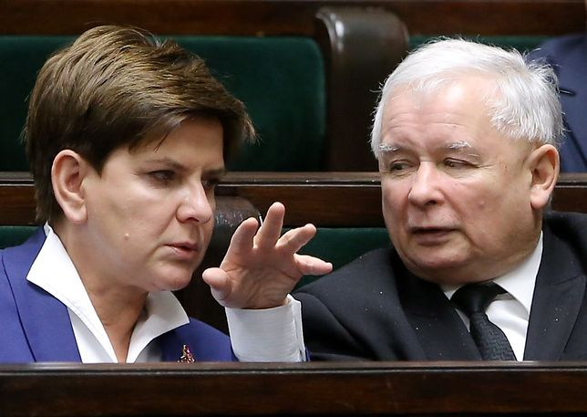 Beata Szydło i Jarosław Kaczyński