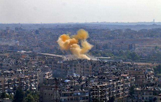 Dym nad Aleppo, 20 października 2016 r.