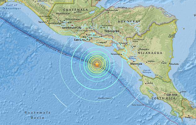 Trzęsienie ziemi niedaleko wybrzeża Nikaragui