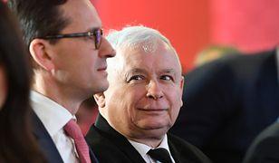 Prezes Jarosław Kaczyński i premier Mateusz Morawiecki