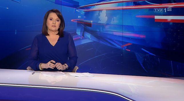 """Danuta Holecka prowadziła czwartkowe wydanie """"Wiadomości"""". Zaapelowała do widzów o przestrzeganie obostrzeń"""