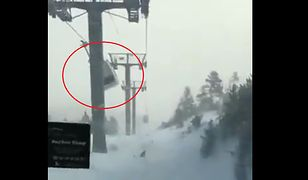 Francja. Silny wiatr niebezpiecznie rozkołysał gondole z narciarzami