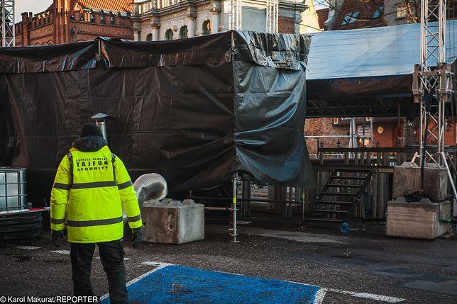 Scena WOŚP dzień po ataku na prezydenta Gdańska Pawła Adamowicza
