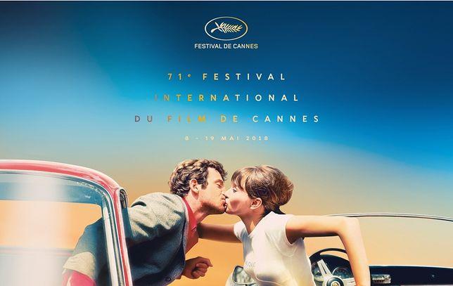 Pocałunek Jeana-Paula Belmondo i Anny Kariny na plakacie Festiwalu w Cannes