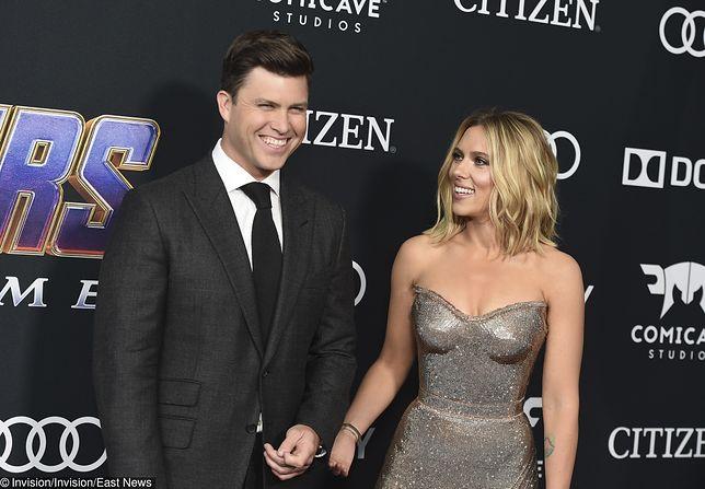 Scarlett Johansson kolejny raz zaręczona. Planuje trzeci ślub. Na zdjęciu z nowym narzeczonym Colinem Jostem