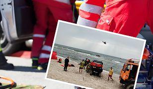 Tragedia w Rozewiu. Nie żyje ojciec, syn zaginął w Bałtyku