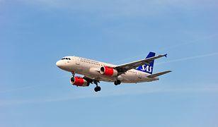 Samolot linii lotniczych SAS.