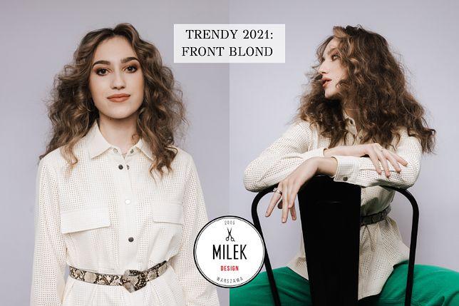 Front Blond - Trend w koloryzacji włosów 2021, który odejmie Ci lat