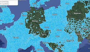 Google ich nie widzi. Niemcy i Austria to dziura na mapie Europy