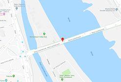 Zderzenie aut na Moście Łazienkowskim. Gigantyczny korek