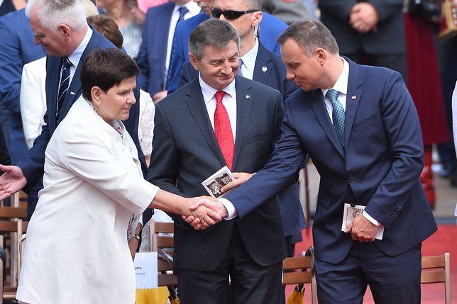 Beata Szydło, Marek Kuchciński i Andrzej Duda
