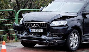 Audi z kolumny wiozącej Beatę Szydło uderzyło w samochód w Imielinie