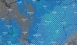 Strefa opadów obejmie największy obszar Polski w sobotę rano