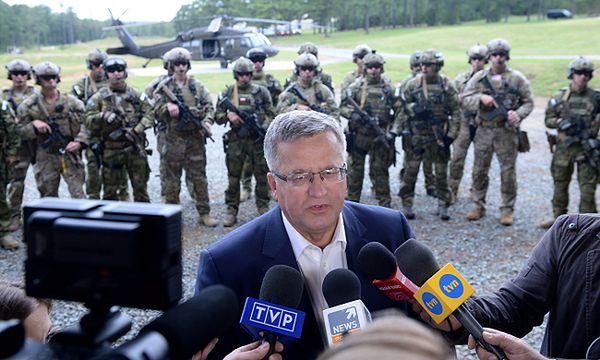 Bronisław Komorowski: Polska udziela politycznego poparcia akcji USA w Syrii