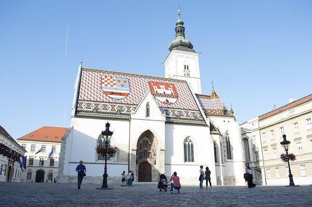 Widok na Kościół Św. Marka w Zagrzebiu