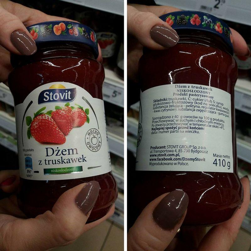 Dżem truskawkowy marki Stovit