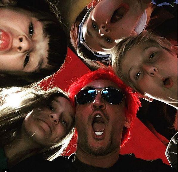 Michał z dziećmi