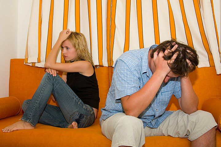 Para w czasie kłótni