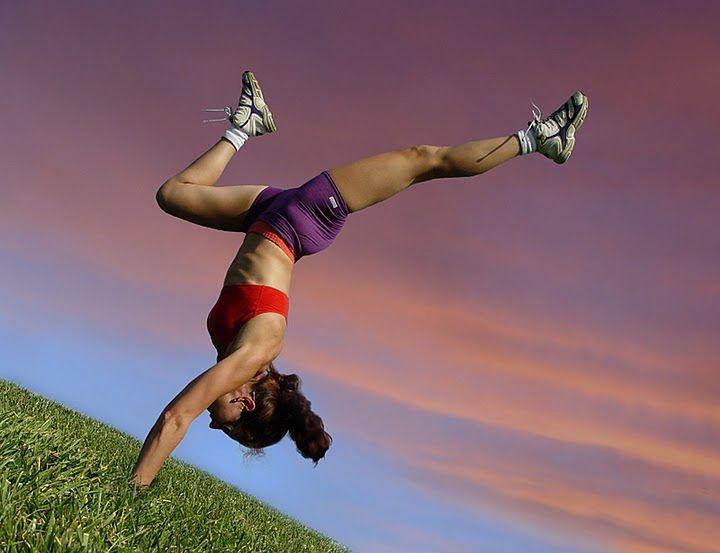 Kobieta w czasie swojego treningu